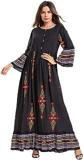 perfectCOCO Womens Long Maxi Dress Kaftan Boho Print Cotton Flowy Casual Abaya Ball Gown Prom Dresses