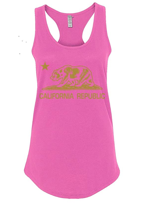 Mixtbrand Women's California Republic Racerback Tank Top