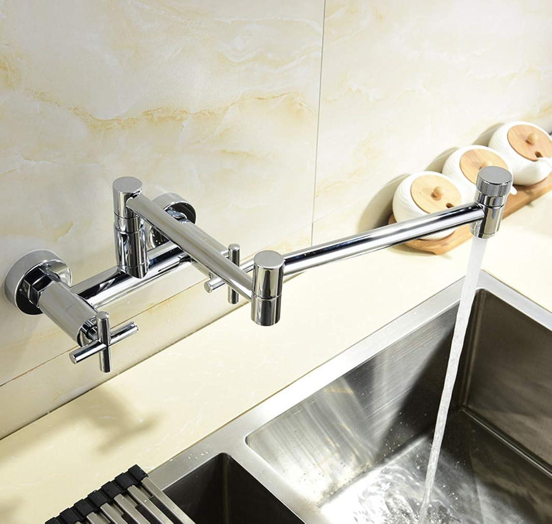 Moderne topffüller wasserhahn edelstahl wand topffüller mit dual swing küchenspüle wasserhahn doppelgelenk auslauf wasserhahn chrom klappbar