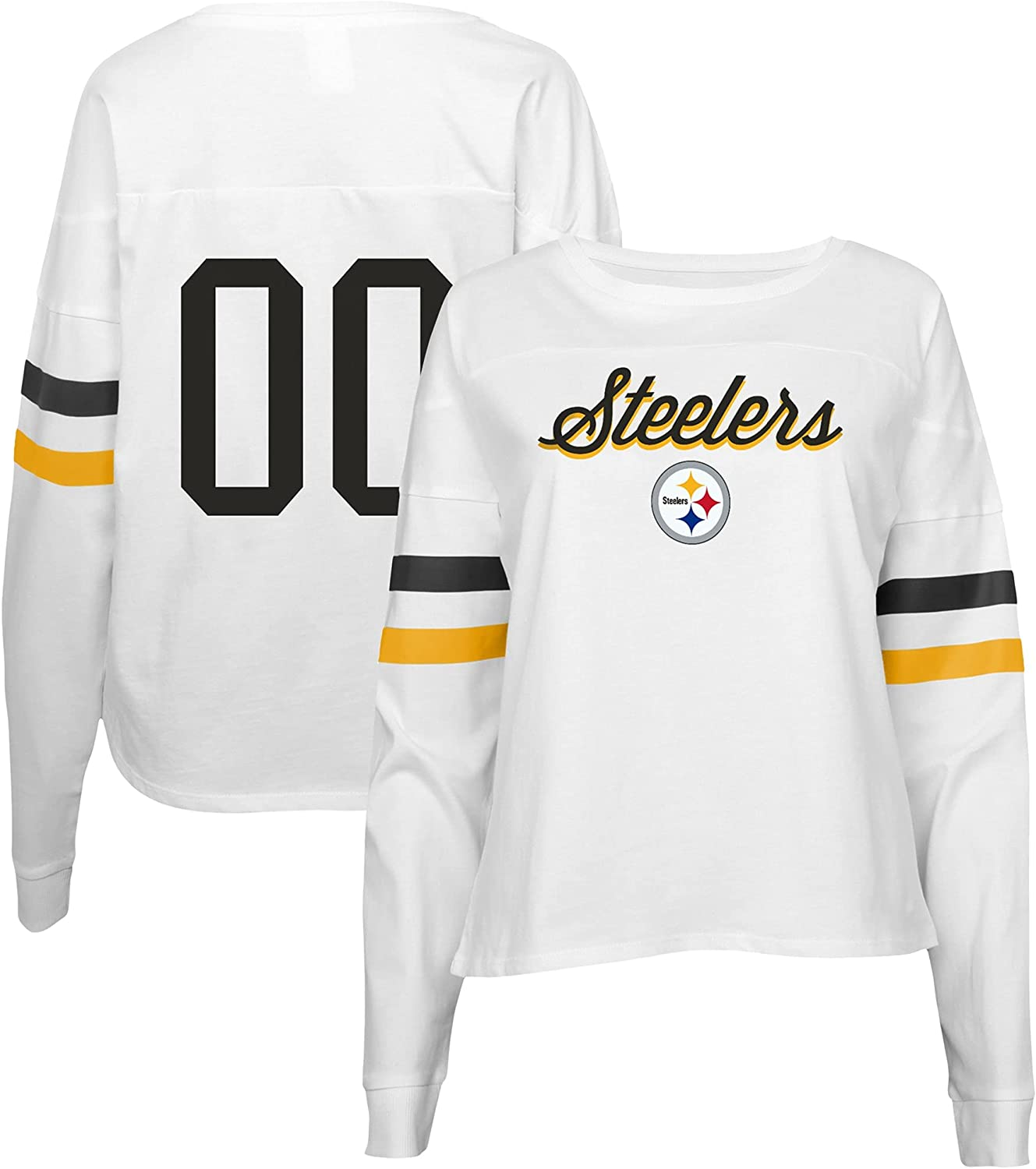 Oklahoma City Mall Outerstuff Juniors NFL Challenge the lowest price Carli T-Shirt Sleeve Long Crop