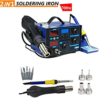 2in1 Durable 862D+ SMD Soldering Iron Hot Air Rework Station Hot Air Gun Digital Display