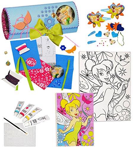 alles-meine.de GmbH Filz Bastelset -  Disney Tinkerbell / Fairies  - Federmappe / Schmuckrolle / Stiftemappe / Pinselrolle - Stifteetui - einfaches Nähen per Hand - zum Sticken..