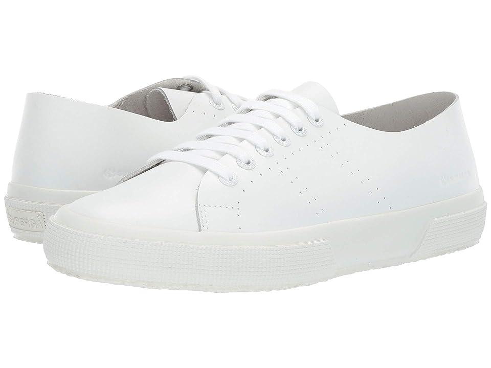 Superga 2750 Rawcutleatheru (White Leather) Women
