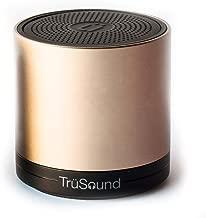 TruSound T2Gold Audio Wireless Bluetooth Portable Speaker/Speakerphone, 360 Degree, Gold
