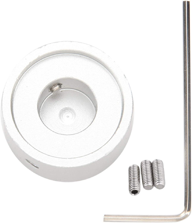 Fltaheroo Pedal botones Efectos Tapa de guitarra con tornillo en aleación de aluminio plata