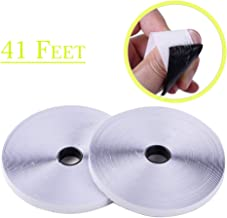 41 Feet Self Adhesive Hook and Loop Tape Roll Sticky Back Strip Adhesive Backed Fabric Fastener Mounting Tape-1inch Wide (Hook Loop Tape-White)