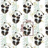 8,98€/m Panda Einhorn Eule Gold 100% Baumwolle 50x160cm
