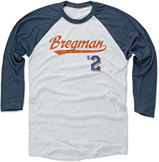 500 LEVEL Alex Bregman Shirt - Houston Baseball Raglan Tee - Alex Bregman Script
