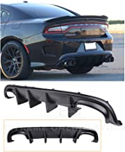 Extreme Online Store Replacement for 2015-Present Dodge Charger   SRT Factory Style Rear Bumper Quad Exhaust Fascia Air Diffuser