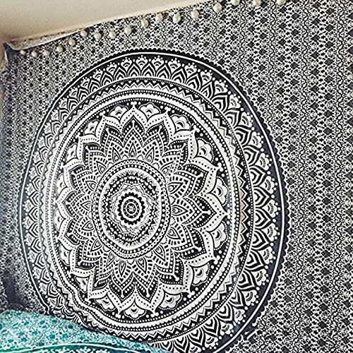 Tapiz de mandala indio colgante de pared tapiz bohemio manta de toalla de playa decoración de la pared del hogar tela de fondo A2 180x200cm