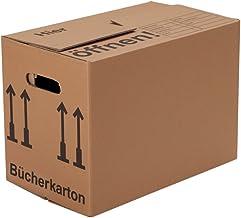 BB-Verpackungen 10 x Bücherkartons Profi 500 x 300 x 350 mm stabil 2-wellig, doppelter Boden, Aktenkartons aus recycelter Pappe - Sets zwischen 5 und 250 Stück