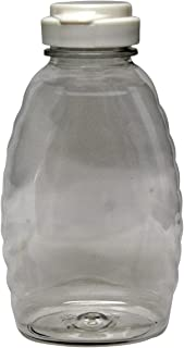 Mann Lake CN245 24-Pack Plastic Squeeze Container with White Flip Top Lid, 1-Pound
