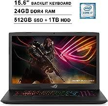 2019 ASUS ROG Strix 15.6 Inch FHD 1080P Gaming Laptop (8th Gen Intel 6-Cores i7-8750H up to 4.1GHz, 24GB DDR4 RAM, 512GB SSD (Boot) + 1TB HDD, NVIDIA GeForce GTX 1050 Ti 4GB, Backlit KB, Windows 10)