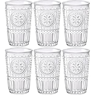 Bormioli Rocco Romantic - Set of 6 Glasses - 32.5cl/11fl.oz. - Clear Glass - 8 x 8 x 12.5cm/3 x 3 x 5 inches