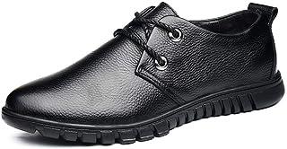 Dingziyue Il primo strato di pelle moda casual scarpe basse per aiutare le scarpe da uomo scarpe (Colore: nero, Taglia : 42)