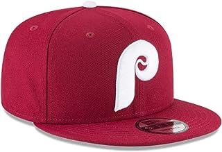 New Era Philadelphia Phillies Burgundy White P Cooperstown Link Snapback Hat  Cap d177ca5bc2a