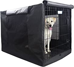 Petsfit Durable Single Door Polyester Dog Crate Cover with Mesh Window