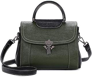 Shoulder Bag Lady Bags Backpack Fashion Lady Bag Oil Wax Cowhide Handbag Handbag Fashion Ladies Shoulder Handbag Clutch (Color : Green)