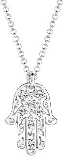Elli Collana Ladies Hamsa Hand con Cristalli Swarovski® in Argento 925