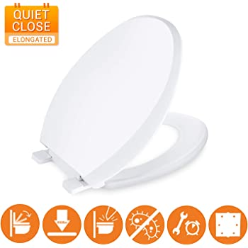 Mayfair 887slow 000 Slow Close Removable Toilet Seat That Will Never Loosen Providing The Perfect Fit Round White Amazon Com