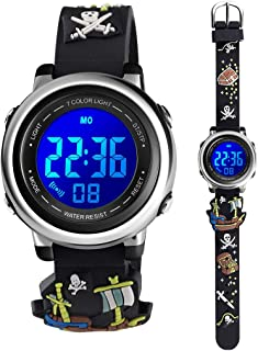 Kids Digital Sport Waterproof Watch for Girls Boys, Kid Sports Outdoor LED Electrical Watches with Luminous Alarm Stopwatc...