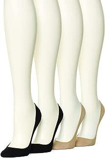 Women's Hidden Cotton Liner Socks, 4 pair pack
