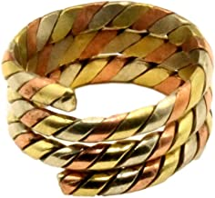 Tibetan Three Metal Spiral Healing Medicine Ring. Unisex, Helps Relieve Arthiritis and Tendon Pains