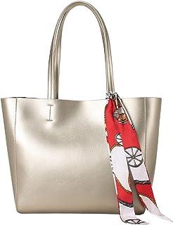 LAORENTOU Damen-Handtasche aus echtem Leder mit Tragegriff oben