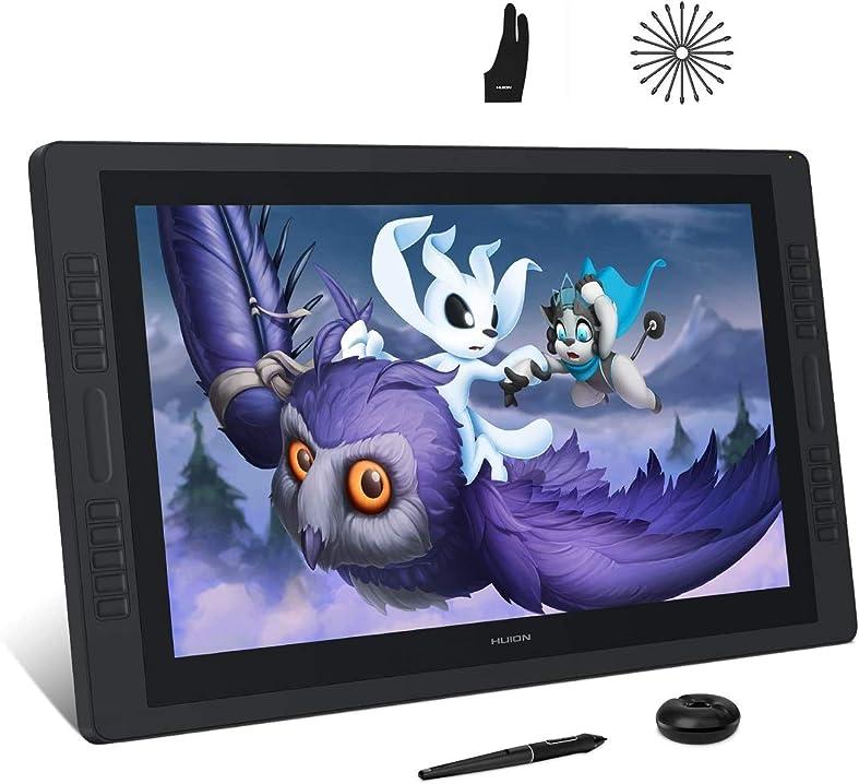 Tavoletta grafica con schermo, monitor da disegno con schermo antiriflesso huion 2.5k kamvas pro 24 AD-UK-GT-240