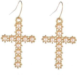 Pendientes de Plata de Silver Cross cruces religiosas Gotico Goth Colgantes Gota Gancho