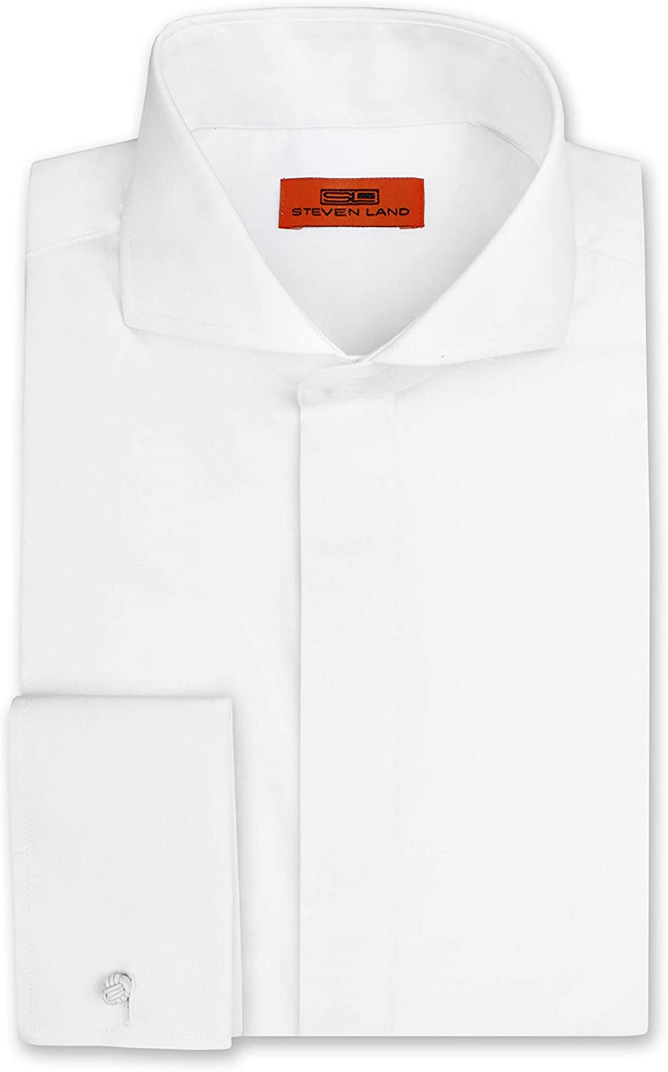 Steven Land Men s Dress Shirt, Regular Fit Breathable Cotton Blend, French Cuff (Big and Tall) DS60