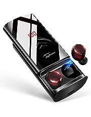 【2019革新デザイン 260時間再生 最新Bluetooth5.0+EDR搭載】 Bluetooth イヤホン LEDディスプレイ Hi-Fi 高音質 3Dステレオサウンド 6000mAh大容量充電ケース付き 完全ワイヤレス イヤホン 自動ペアリング 両耳 左右分離型 AAC8.0/CVC8.0ノイズキャンセリング対応 ブルートゥース イヤホン IPX7防水 音量調整 両耳通話 技適認証済/Siri対応/iPhone/iPad/Android対応