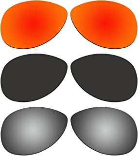 COODY 3 Pair Replacement Polarized Lenses for Ray-Ban RB8301 59mm Sunglasses Pack P2