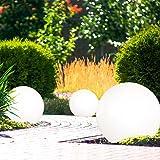 LED Solarleuchten Gartendeko Kugelleuchten, IP44 Wasserdicht, Wegleuchten, AKKU ca. 8hrs, Weiß, 3er SET