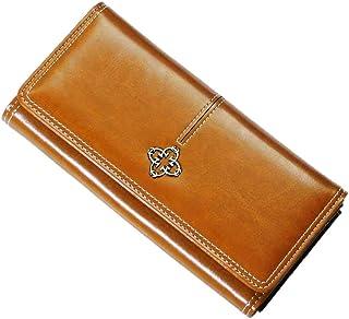 Syunto Pla. 長財布 茶色 ライトブラウン コンパクト 大容量 財布 レディース メンズ 黄土色 コインケース付き 女性用