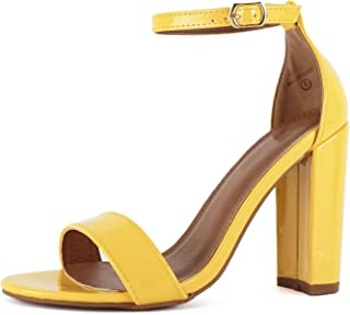 Amazon.com  Yellow Women s Heeled Sandals