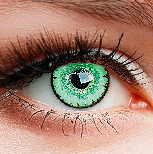 """Farbige Kontaktlinsen HEROES OF COSPLAY Circle Lenses\""""COLORWORLD\"""" Farblinsen für Cosplay, GUT DECKEND, INTENSIVE FARBEN, BEQUEM zu tragen (Grün)"""