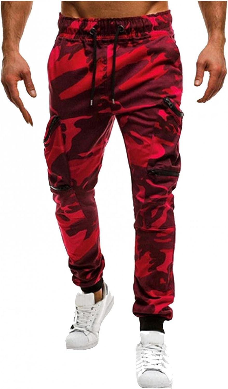 Beshion Camo Sweatpants for Men Latest item Cargo Slim Pants Stitchin Max 82% OFF Jogger