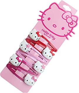 e262fe1be NoMo Kou Hello Kitty Children's Hair Clips (three pairs) (Three color2)