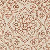 """Amazon Brand – Stone & Beam Contemporary Floral Medallion Wool Rug Runner, 2'6"""" x 8', Rust on Ivory #4"""