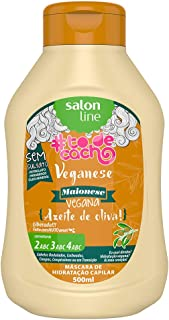 Linha Tratamento (#ToDeCacho) Salon Line - Veganese Maionese Capilar Vegana {Azeite de Oliva!} 500 Ml - (Salon Line Treatment (#IHaveCurls) Collection - Veganese Olive Oil Hair Mayo 16.9 Fl Oz)