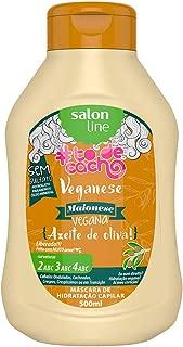 Creme Hidratação Maionese Capilar Vegana Azeite de Oliva 500g, Salon Line, Branco