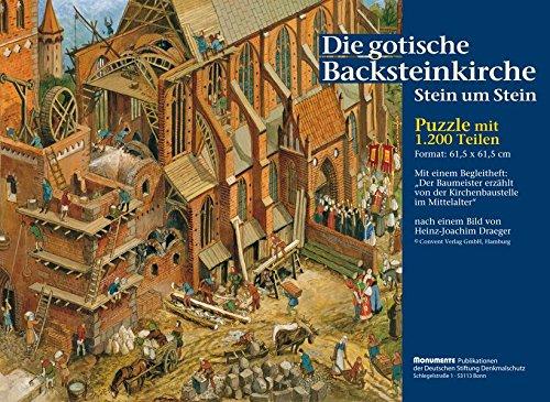 Die gotische Backsteinkirche - Stein um Stein: Puzzle mit 1200 Teilen, Motivgröße 61,5 x 61,5 cm, plus Begleitheft