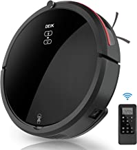 Robot Vacuum, Deik Robot Vacuum Cleaner with 360° Smart Sensor Protectio, 5 Cleaning Modes, Easy Schedule Cleaning, and Self-Charging, Suitable for Best for Pet Hair, Hard Floor & Medium Carpet, Black