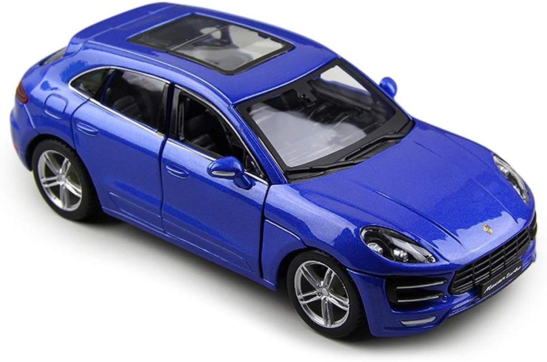 punto de venta barato GLJJQMY Modelo de Coche Modelo Macan Macan Macan 1 24 simulación de fundición a presión a Troquel Coche de Juguete SUV Todoterreno simulación de Coche  ventas en linea