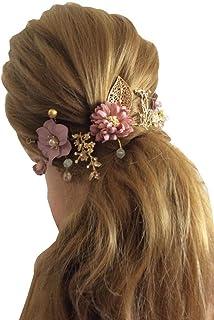 Decoshop Headdress hair sposa fascia rosa oro rosa