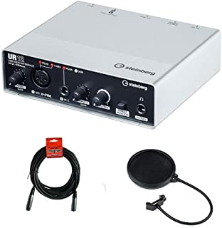 Steinberg UR12 - USB Audio Interface with XLR-XLR Cable & Pop Filter Bundle