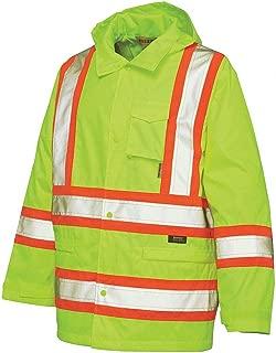 Work King S37211 - Rain Jacket Hi-Vis Yllw/Grn M