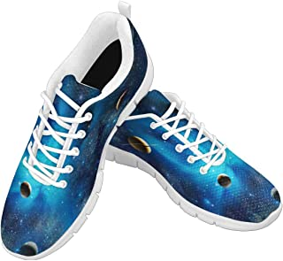 Zenzzle Womens Running Shoes Starry Galaxy Pattern Print on Casual Lightweight Athletic Sneakers Size 6-12