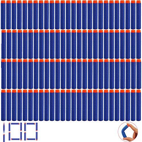 Blesser 100 Schaumstoff-Dartpfeile Nerf, Spielzeug Gun Darts Nachfüllpack für Pistole Nerf Elite, 7,2 cm Refille Toy Nerf Gun Bullet Zubehör Flechpfeile Blau